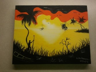 sunset acrylic on canvas